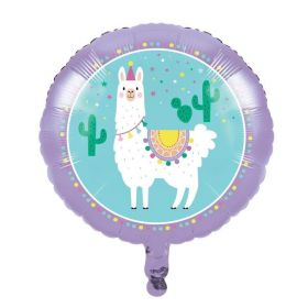 Llama Pastel Party Foil Balloon 18''