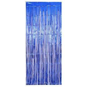 Blue Foil Curtain