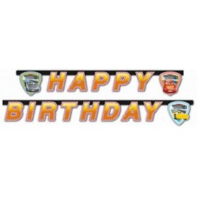 Disney Cars 3 Happy Birthday Banner 2m