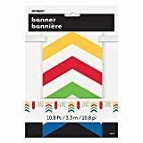 Bold Dots, Stripes & Chevron Pennant Banner