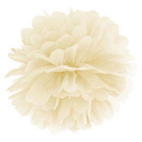 Cream Tissue Paper Pom Pom 25cm
