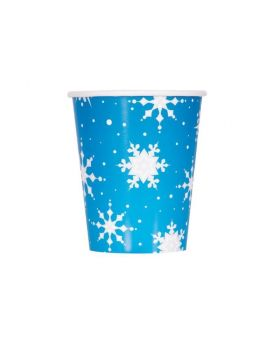 Snowflakes Christmas Party Cups