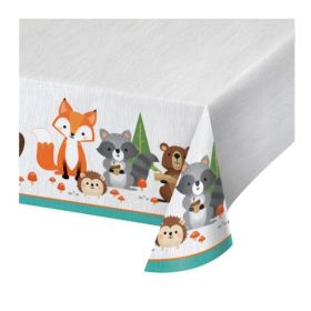 Wild Woodland Animals Tablecover 1.37m x 2.59m