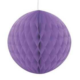 Pretty Purple Honeycomb Ball Party Decoration 20cm
