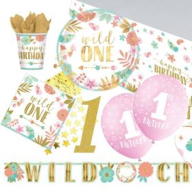 Boho Wild 1st Birthday Ultimate Party Pack for 8