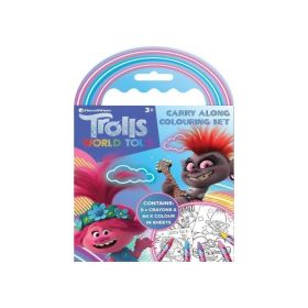 Trolls Movie Carry Along Colouring Set