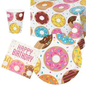 Donut Time Tableware Party Pack for 8