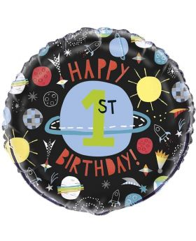 Outer Space Party Foil Balloon 18""