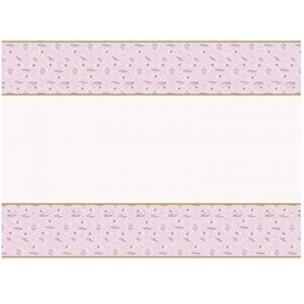 Ballerina Pink & Gold 1st Birthday Party Tablecover 1.2m x 1.8m