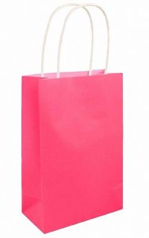 Neon Pink Paper Party Bag