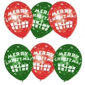 "Merry Christmas Presents Latex  Balloons 11"""