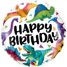 "Happy Birthday Dinosaurs Foil Balloon 18"""