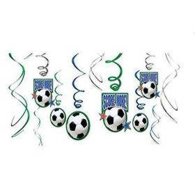 Championship Soccer Decorations Swirls, pk12