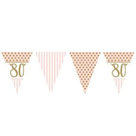Pink Chic 80th Birthday Bunting 3.7m