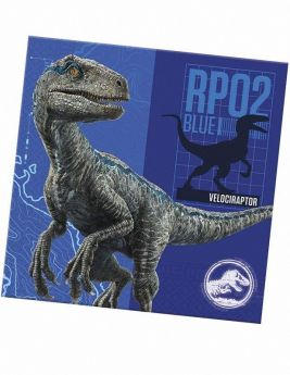 Jurassic World Fallen Kingdom Napkins 33cm x 33cm, pk20