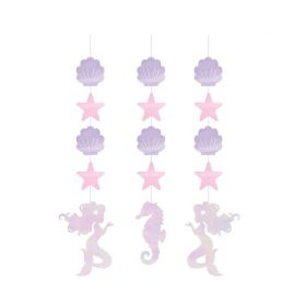 Mermaid Shine Hanging Cutouts, pk3
