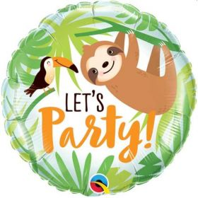 Sloth Let's Party Foil Balloon 18""