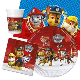 Paw Patrol Party Pack For 8 Including Tableware And 8 Filled Party Bags