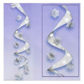 Snowflake Super Swirl Decoration 1.2m