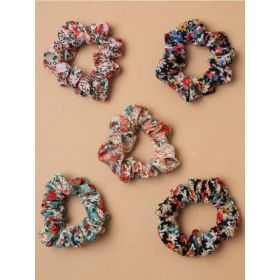 Floral Fabric Scrunchie