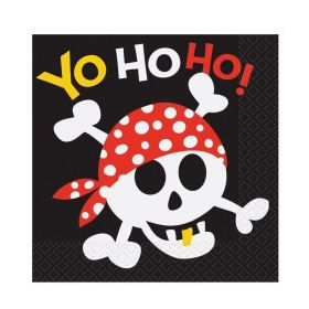 Pirate Fun Luncheon Party Napkins 33cm x 33cm, pk16