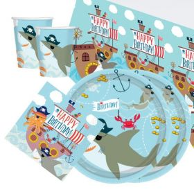 Ahoy Birthday Tableware Party Pack for 16