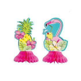 "3 Flamingo Mini Honeycomb 6"""