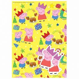 Peppa Pig Gift Wrap, 2 sheets and 2 tags
