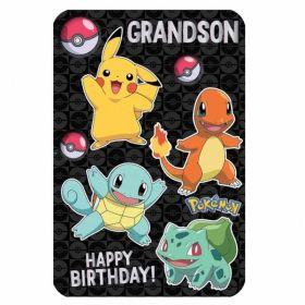 Pokemon Grandson Birthday Card