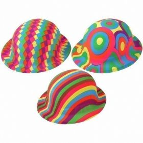 Plastic Jazzy Bowler Hat