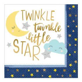 Twinkle Little Star Luncheon Napkins 33cm x 33cm, pk16