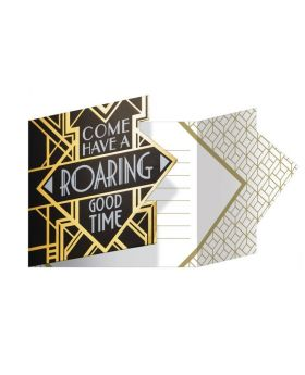 Roaring 20's Party Invitations, pk8