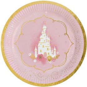 Princess for a Day Party Plates 23cm, pk8