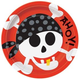 Pirate Fun Party Plates 23cm, pk8