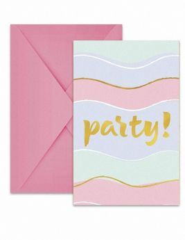 Elegant Party Invitations, pk6