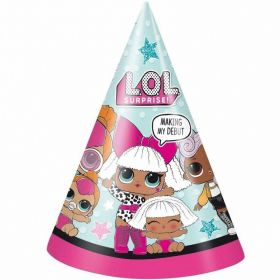 LOL! Surprise Party Hats, pk8