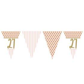 Pink Chic 21st Birthday Bunting 3.7m
