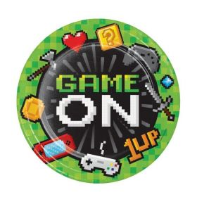 Gaming Party Dinner Plates 23cm, pk8
