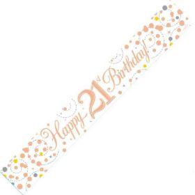 Age 21 Rose Gold Foil Banner