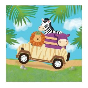 Safari Adventure Lunch Napkins 33cm x 33cm, pk16