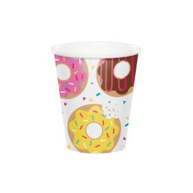 Donut Time Paper Cups 256ml, pk8