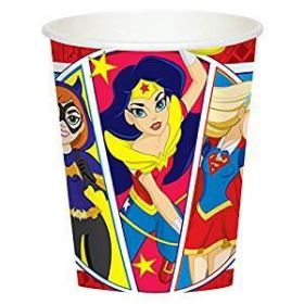 DC Super Hero Girl Paper Cups pk8