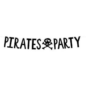 Pirate Party Letter Banner 1m