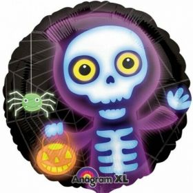 Boo Crew Skeleton Foil Balloon 18""