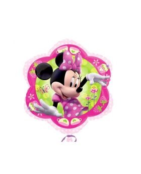 Minnie Mouse Foil Party Balloon - Flower Junior Shape 20''