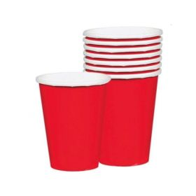 Apple Red Paper Cups 266ml, pk8