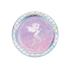 Mermaid Shine Dessert Plates 18cm, pk8