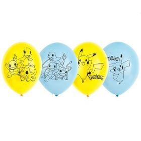 "Pokemon 4 Sided Latex Balloons 11"", pk6"