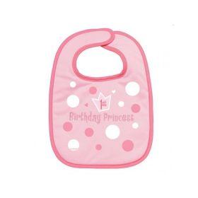 First Birthday Pink Princess Party Fabric Bib