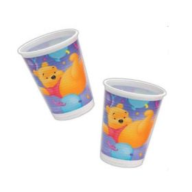 Winnie Licious Plastic Cups, pack of 10